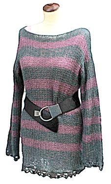 Grågrønn og lyng strikket genser str.38-42 - Chris-Ho.com