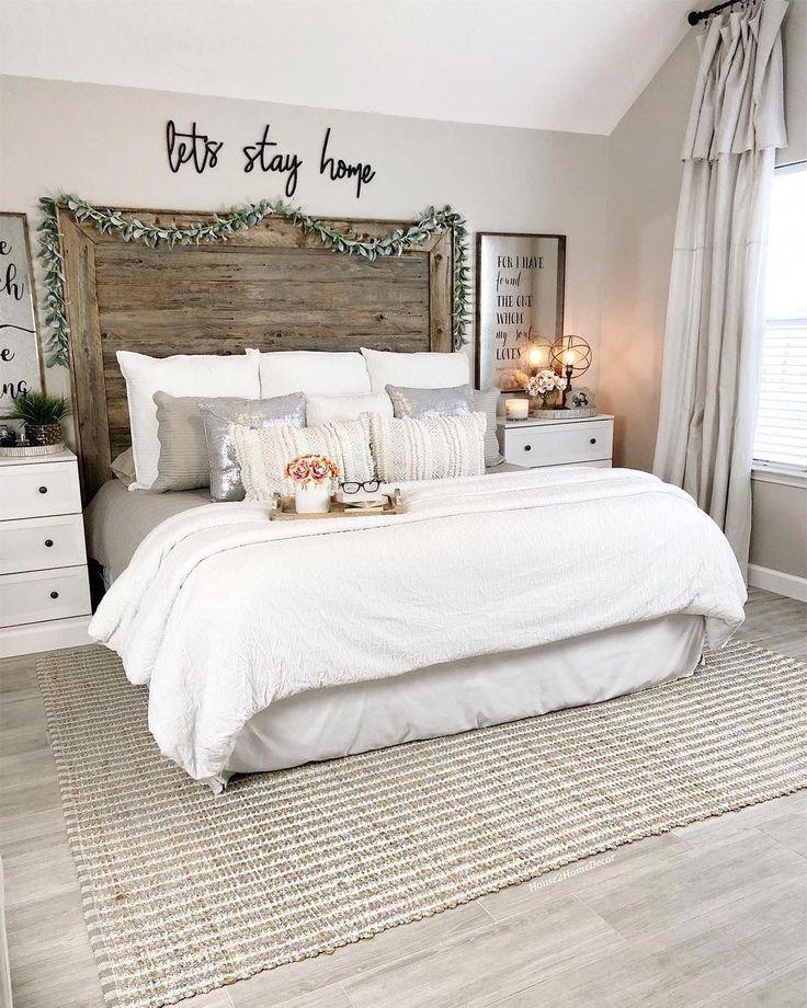 50 Cozy Farmhouse Master Bedroom Remodel Ideas: Cozy Modern Farmhouse Bedroom Design & Decor Ideas