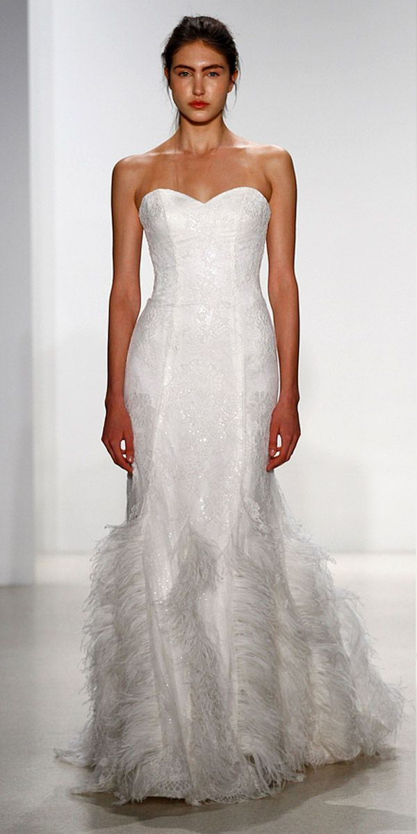 24 beautiful feather wedding dresses trend for 2016