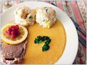 Svíčková na smetaně / Marinated beef sirloin in creamy sauce and dumplings