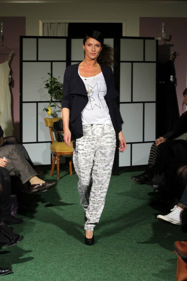 SS14 FASHION SHOW Rodebjer blazer and House of Dagmar pants.
