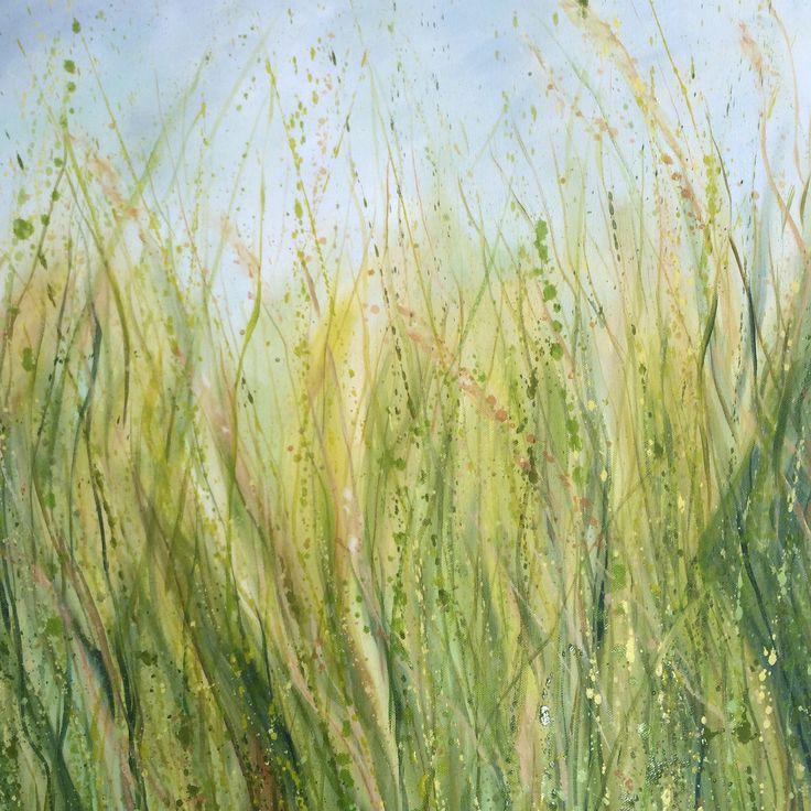 Summer Meadow Oil on Canvas Irish Landscape 60x60cms