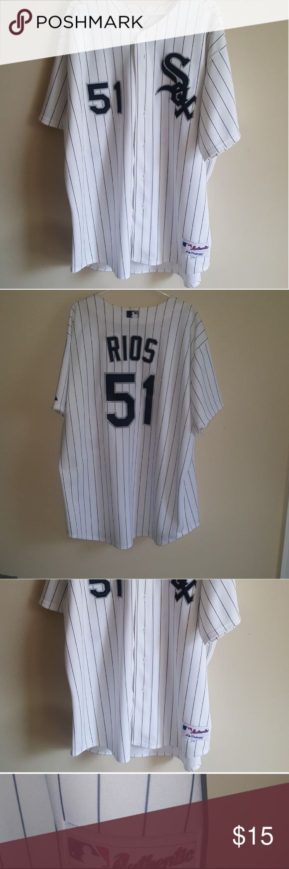 Authentic Majestic Alex Rios White Sox Size 56. Worn once, too long for me. Majestic Shirts Tees - Short Sleeve