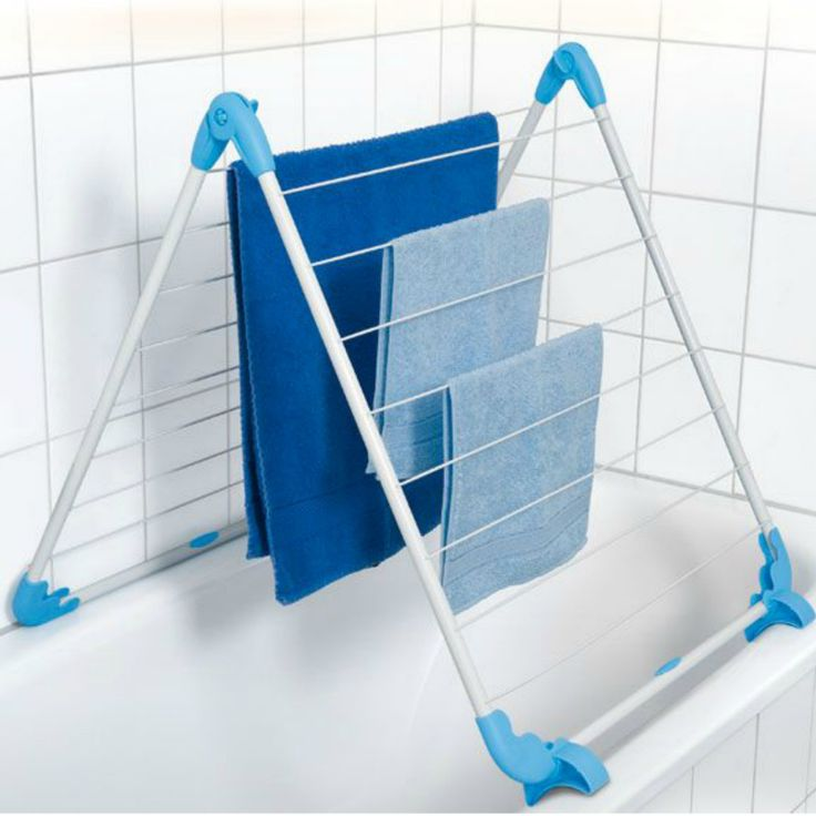 The versatile Bath Clothes Dryer is handy for small loads or daily air-drying. Fits over the bath. Non-slip supports. Clothes Dryer measures 1,38m x 64cm