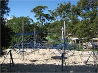 Bundeena Playground - the site of the markets. This is suited for older kids. The spider web climbing equipment is great fun. A very steep slippery dip and swings. Shaded. BBQ facility.
