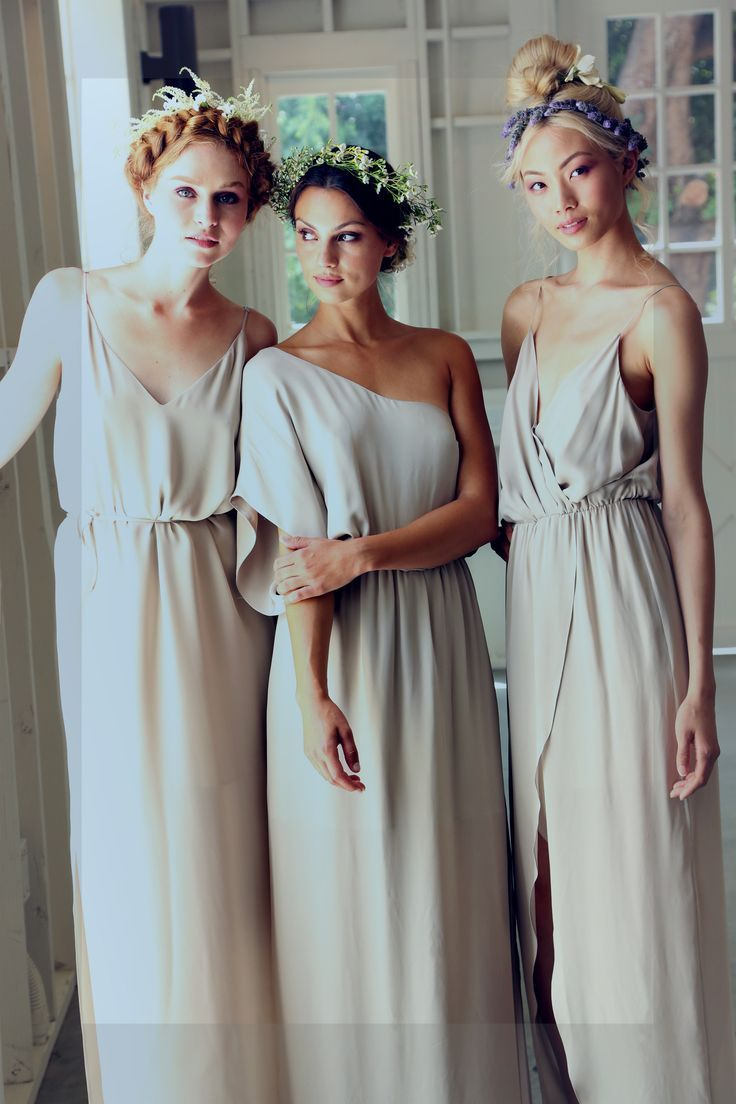 enchanted romantic bridesmaid dresses for an outdoor wedding