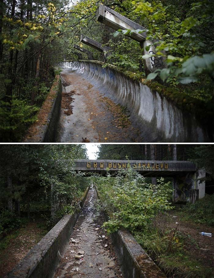 Bobsled Track, Sarajevo, 1984 Winter Olympics Venue | www.piclectica.com #piclectica