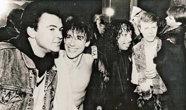 Paul Young, Iggy Pop, Rick James and David Bowie