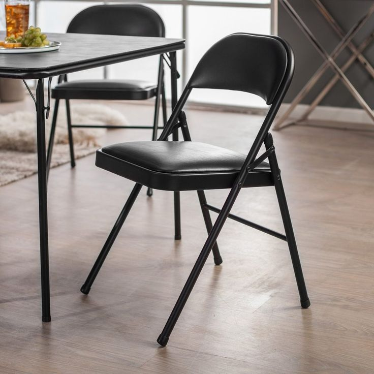 Meco Black Folding Chairs