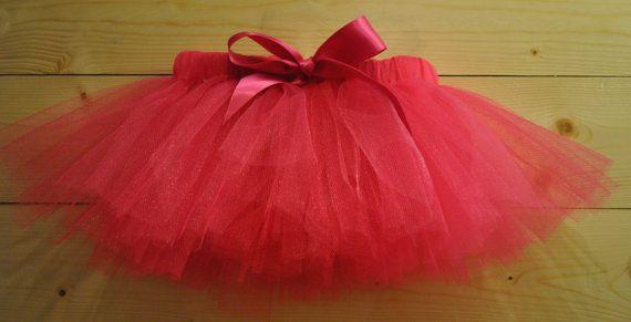 Dark Pink, Cerise Tutu with Satin Bow, dressing up tutu, girls tutu, baby tutu on Etsy, £15.00
