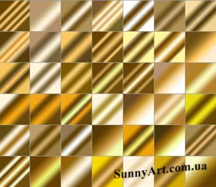 Градиенты – блеск метала — Различные PSD, PNG файлы для фотошопа