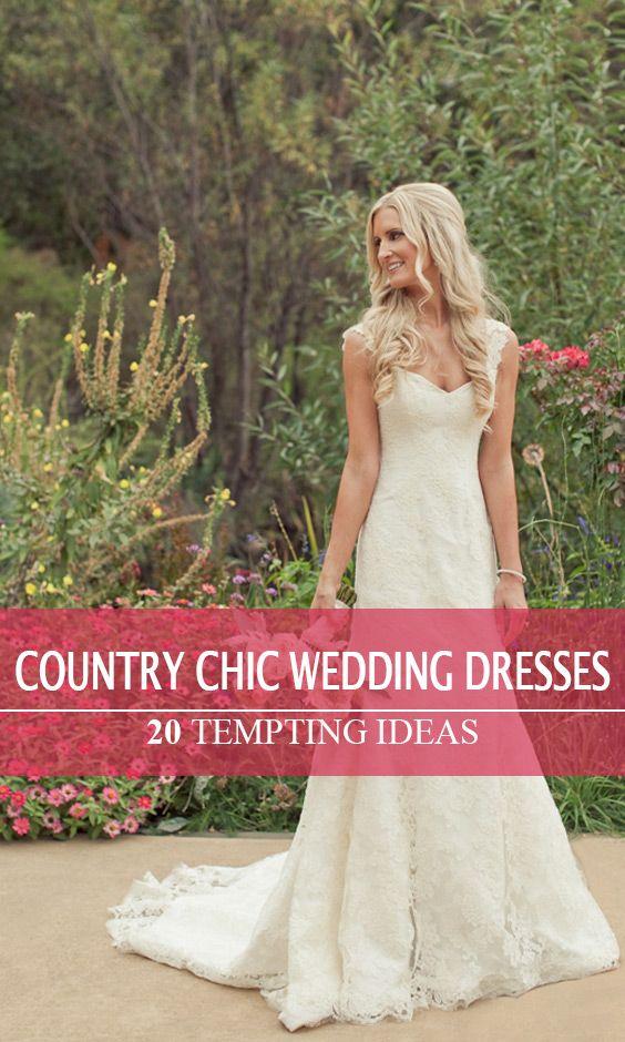 bbd6fe9fdbb1 20 Best Country Chic Wedding Dresses: Rustic & Western Wedding ...