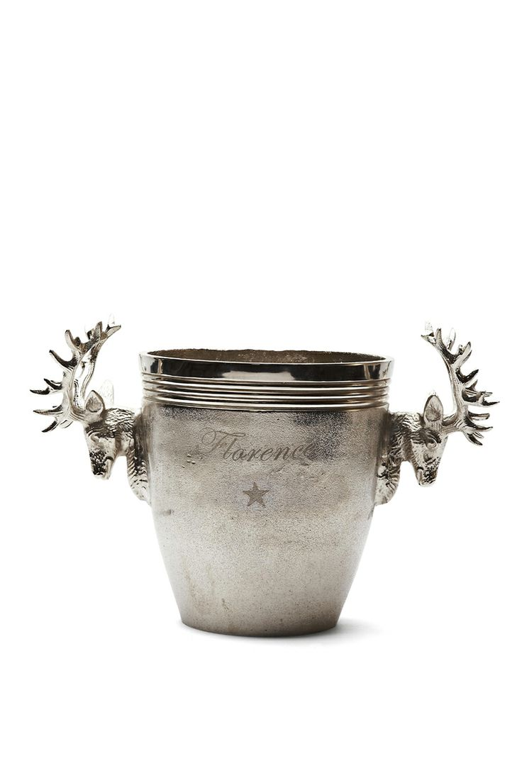 FLORENCE DESIGN Wine coolers with deer handles! We LOVE Steel!