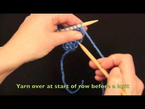 how to start first row of knitting