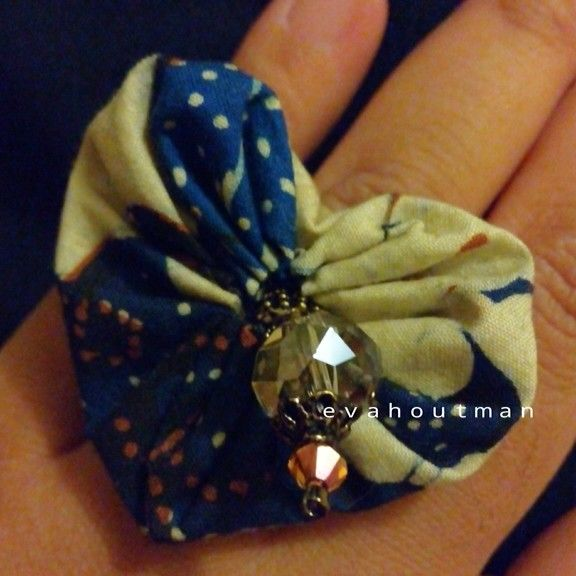 #batik #ring #diy #handmade #art #craft #crystal