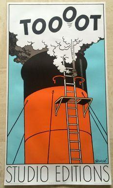 """Hergé - Póster de Litografía del Studio Éditions Paris - """"Toooot"""" - (1980)"""