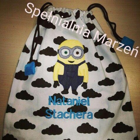 Worek na buty  www.spelnialniamarzen.com.pl #worek # worekdoprzedszkola #woreknabuty # wyprawka #minnions #minionki #spelnialniamarzen