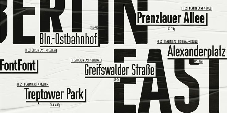 Berlin East created from Berlin street signage. Now available at FF.
