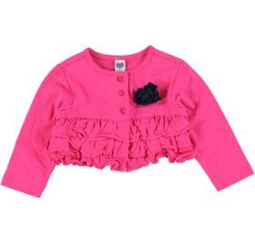 frilled cardigan  cerise  size: 0-12 months  *Selected stores only.