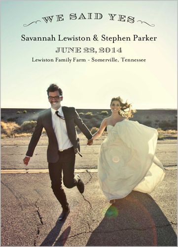 Announce Your Wedding In Style With A Favorite Photo And The Celebration  Details On This Wedding Announcement.