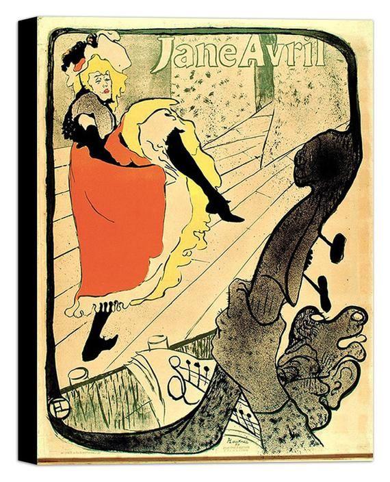 Jane Avril By Henri De Toulouse Lautrec Canvas Wall Art Etsy Henri De Toulouse Lautrec Toulouse Lautrec Canvas Wall Art