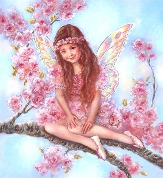 "Résultat de recherche d'images pour ""fairy painting cherry blossom"""
