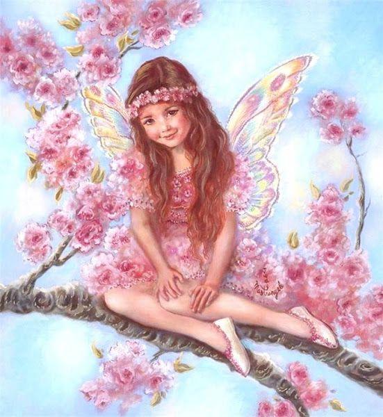 """Résultat de recherche d'images pour """"fairy painting cherry blossom"""""""