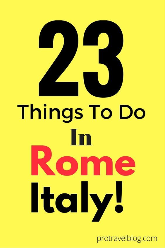 If there was only one city you could visit in Italy, it would obviously be ROME! With so much history and so many choices, you need a good list of things to do! Here is my list of 23 amazing things to do in Rome Italy!