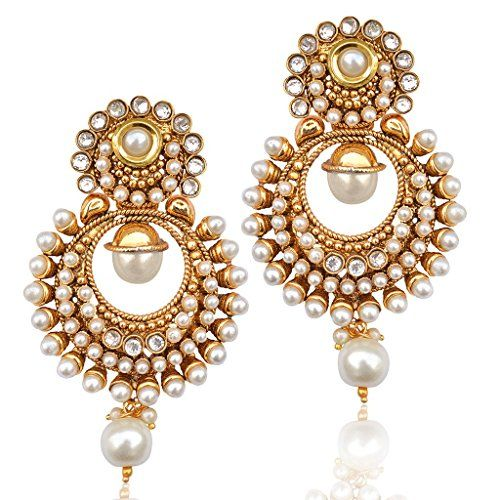 Kundans earrings antique jewellery polki earrings jewellery sets