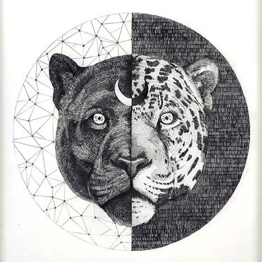 Yin Yang Jaguar Tattoo Design