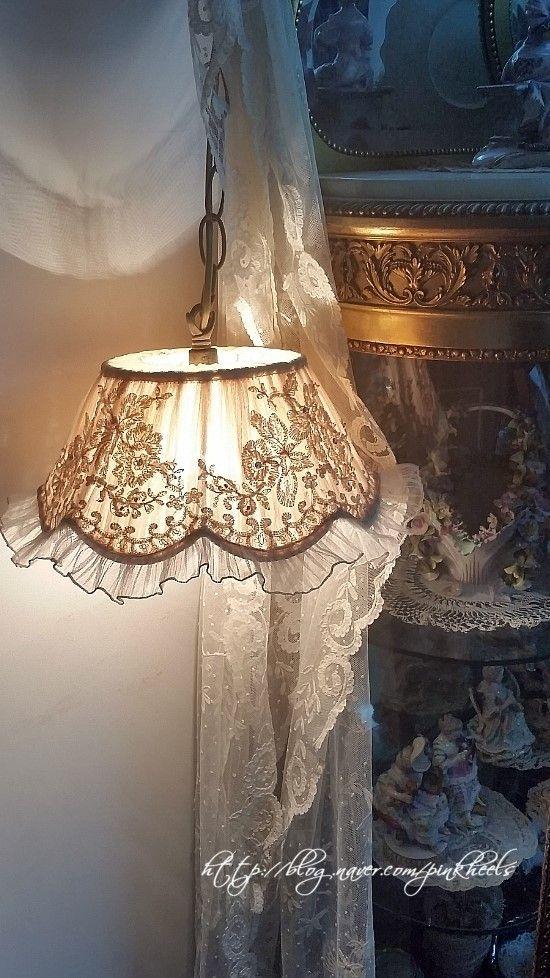 Best 25 lace lamp ideas on pinterest doily lamp for Doily light fixture