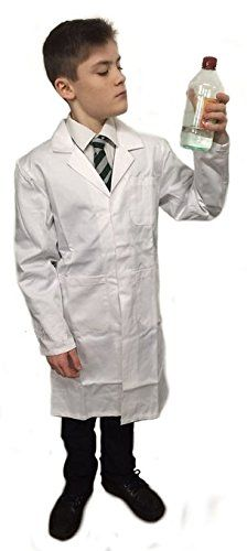 From 10.25:Children's White Lab Coat Great For Art Science Fancy Dress Various Sizes5-14 (8-10)