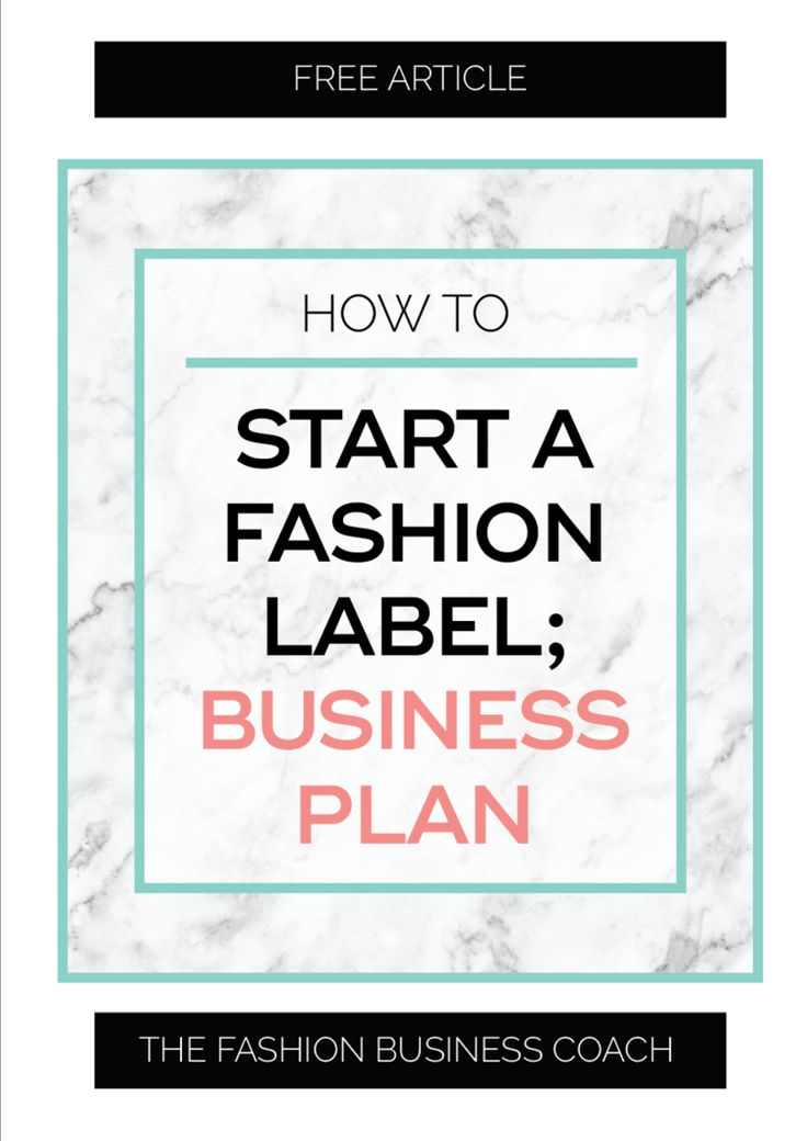 how to start a clothing label