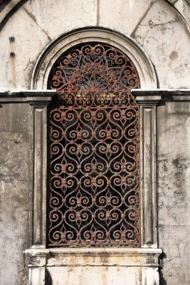 Image detail for -... building in Venice, Italy. Vintage window with rusty decorative bars