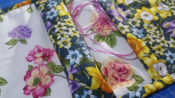 Sewing Caddie - Pansy  print Sewing Caddie - Embroidery Sewing Caddy - Tapestry Sewing Caddy - Needlepoint Caddie - Armchair Sewing Caddy