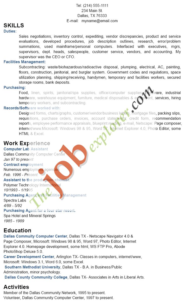 Functional Format Resume Definition