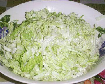 Изысканный салат с белокочанной капустой