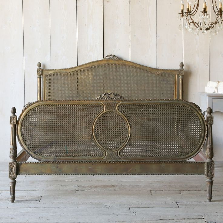 Eloquence one of a kind antique full bed cane louis xvi for One of a kind beds
