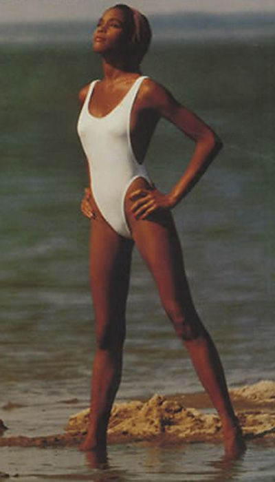 10 Iconic Looks That Prove Norma Kamali is a Celebrity Favorite - Whitney Houston, 1985 from #InStyle