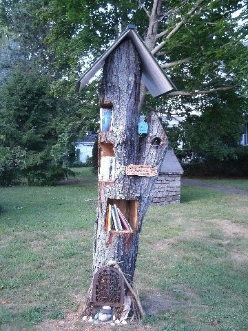 little free library | ... Little Free Library #7874, a former maple tree, is located right in