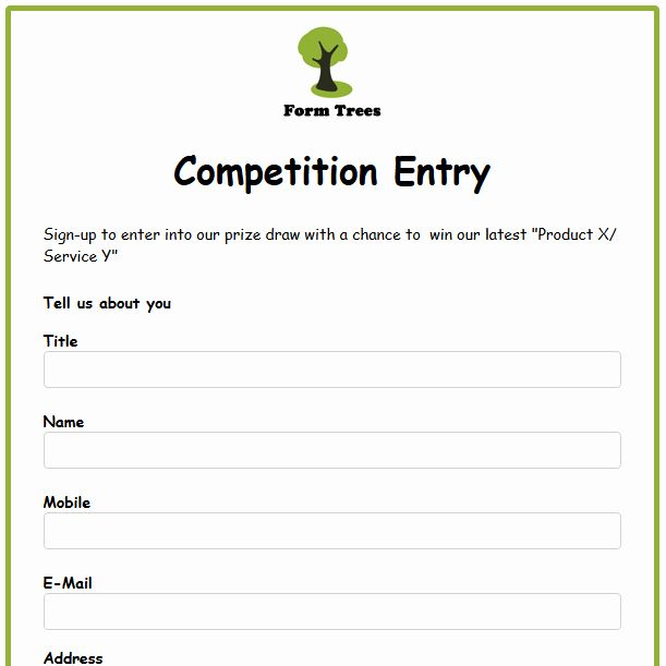 Drawing Entry Form Template Word Best Of Formwize Examples Templates Book Template Entry Signs