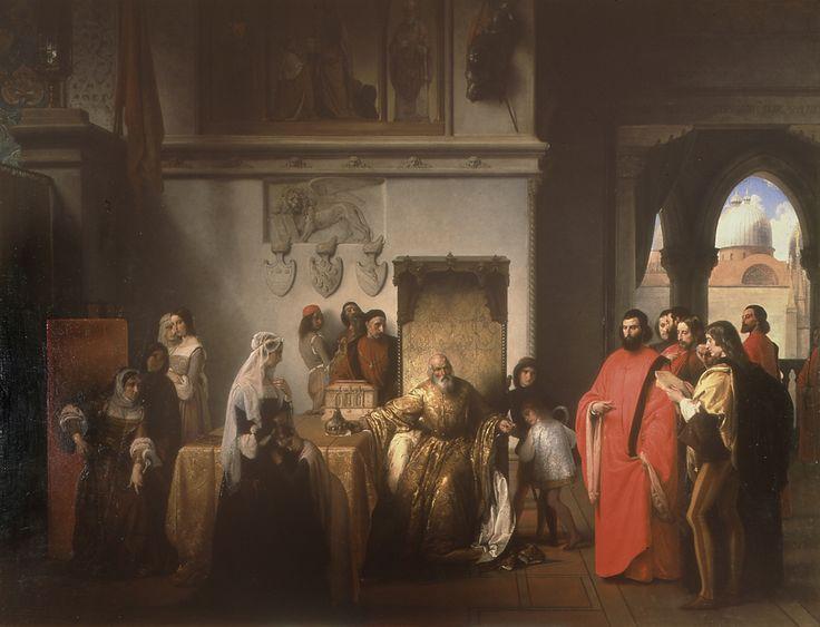 Francesco Hayez - Francesco Foscari destituito (I due Foscari) 1842