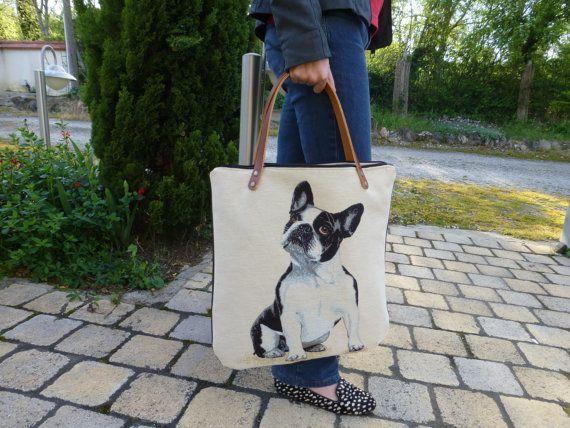 Médor sac porté épaule tapisserie  simili par PRATBOUSQUIE sur Etsy