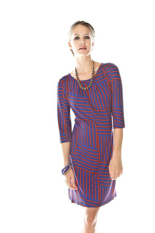 M9731-C1145-470 3/4 sleeve dress