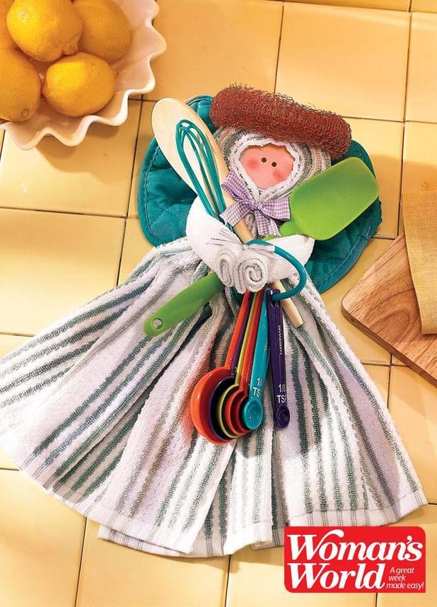 Housewarming Angel Woman S World Magazine Kitchen Towels Dish