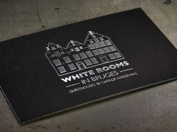 Business cards White Bruges - paper: Colorplan Black - Foil ...