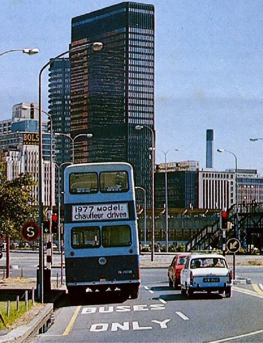 Cape Town's first Bus Lane, 1977.   by Etiennedup