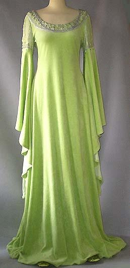 Id to wear this as a wedding dress in a different color. Medieval Dress