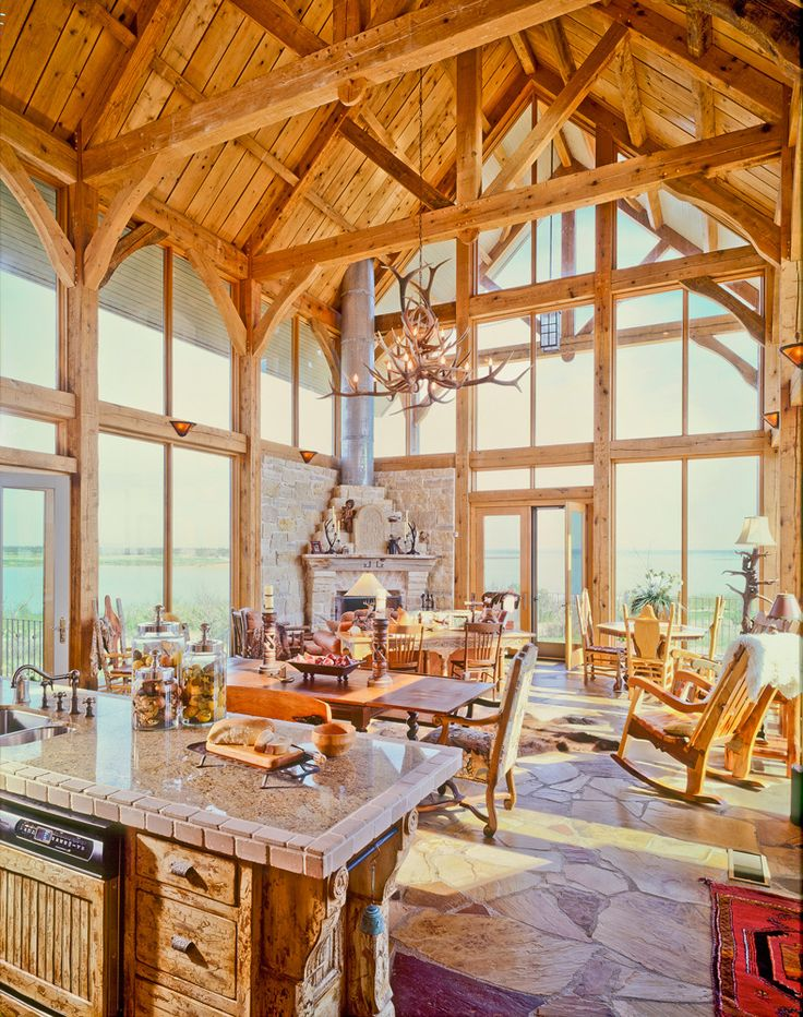 Texas timber frames galleries timber trusses for Open beam house plans