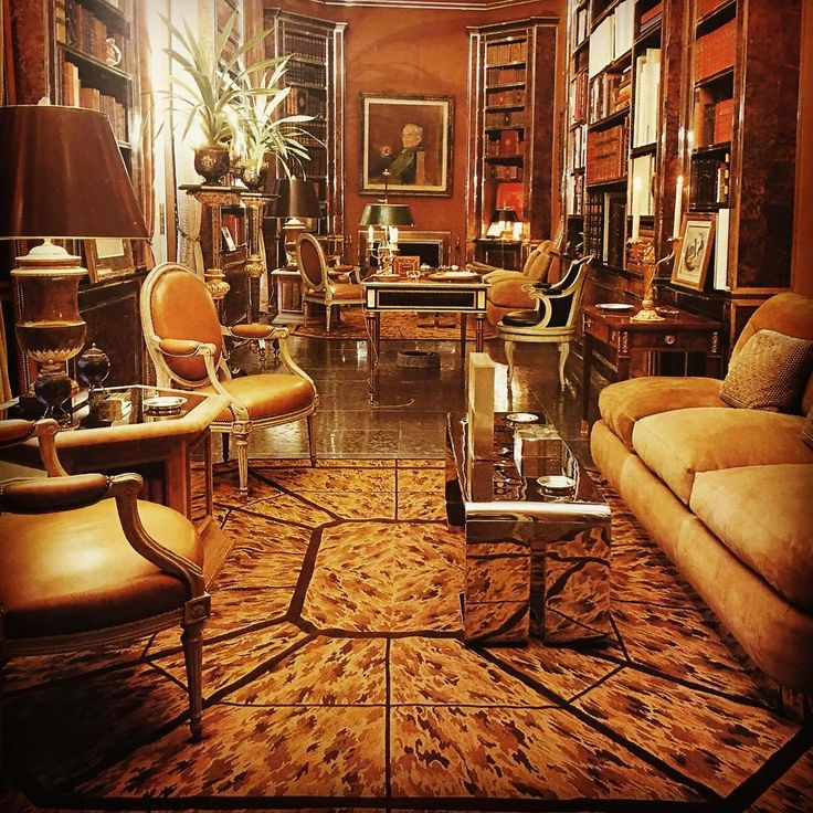 The Bookcases Are Clad In Tortoiseshell Veneer And Carpet Is A Woven Tortoise Design This Room Hotel De Luzy Published Great Houses Of